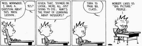 calvin and hobbes maths