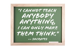 Socrates started as a schoolboy who probably wet the bed.