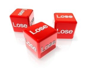 losing dice