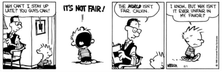 Fairness Calvin and Hobbes